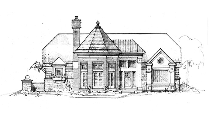 custom-residence-pencil-sketch